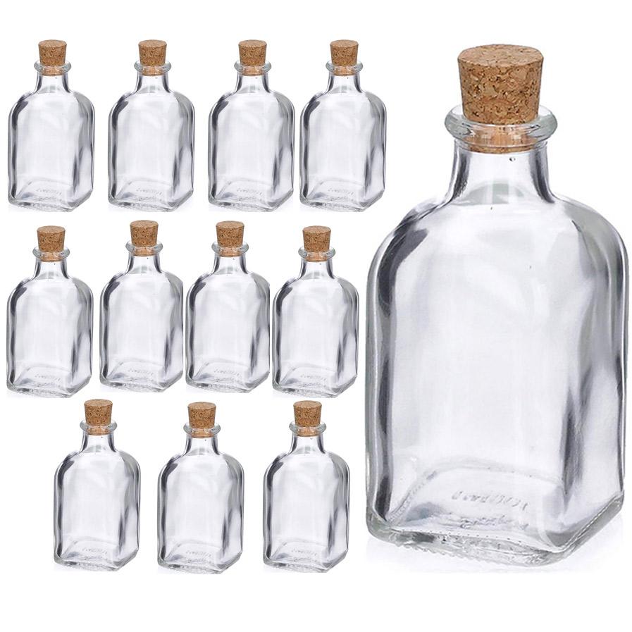 12 flacons fioles bouteilles en verre de 250 ml bouton - Bouton de liege ...