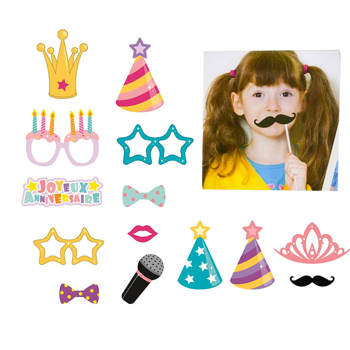 15 accessoires d guisements photo enfant photobooth mariage anniversaire. Black Bedroom Furniture Sets. Home Design Ideas