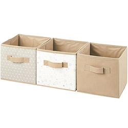 3 Boites de Rangement Cube