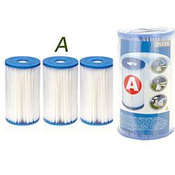 3 Cartouches de Filtration Intex Type A