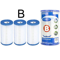 3 Cartouches de Filtration Intex Type B