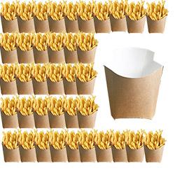 50 pochettes à frites en Carton