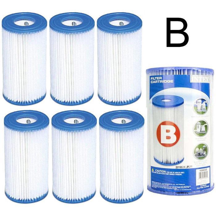 6 cartouches de filtration intex pour filtre piscine intex type b ebay. Black Bedroom Furniture Sets. Home Design Ideas