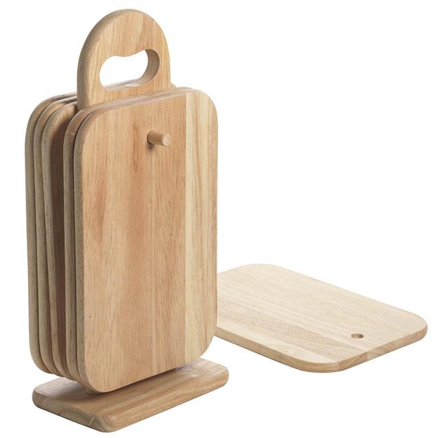 6 planches d couper en bois avec support pour la cuisine for Planche en bois pour cuisine