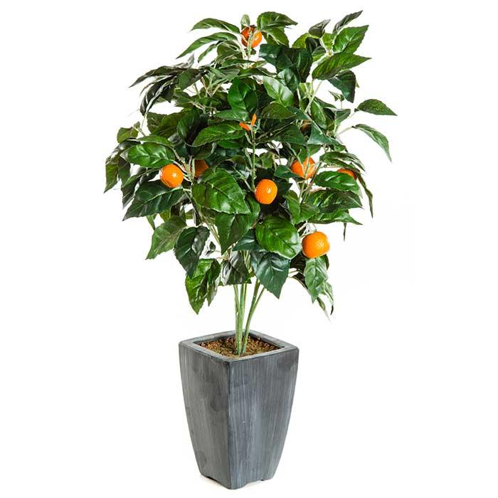 Arbre fruitier artificiel oranger tr s r aliste for Comarbuste fruitier en pot