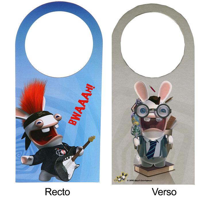 Accroche porte pour chambre toilettes lapins cr tins - Bricolage accroche porte ...