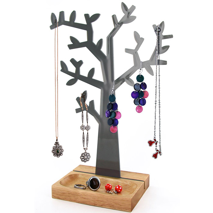 arbre porte bijoux pour bagues colliers bracelets. Black Bedroom Furniture Sets. Home Design Ideas
