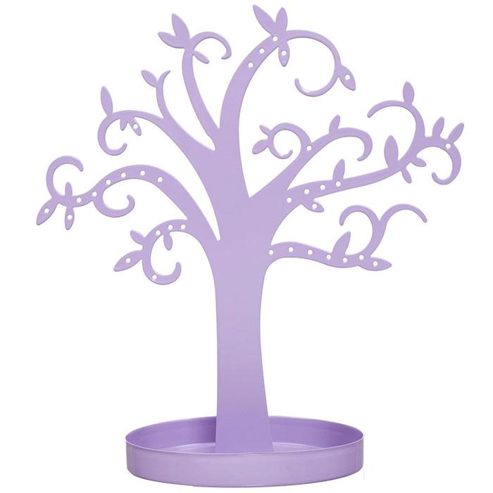 arbre porte bijoux d co en m tal couleur mauve. Black Bedroom Furniture Sets. Home Design Ideas