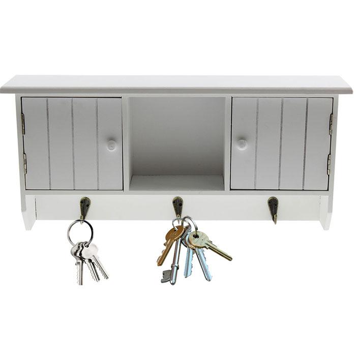 armoire de rangement pour cl s murale en bois. Black Bedroom Furniture Sets. Home Design Ideas