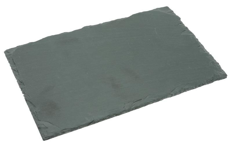 4 assiettes ardoises noires avec patin anti d rapant. Black Bedroom Furniture Sets. Home Design Ideas