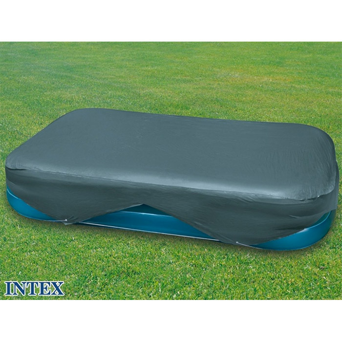 Housse bache de protection de piscine intex rectangulaire for Bache piscine intex