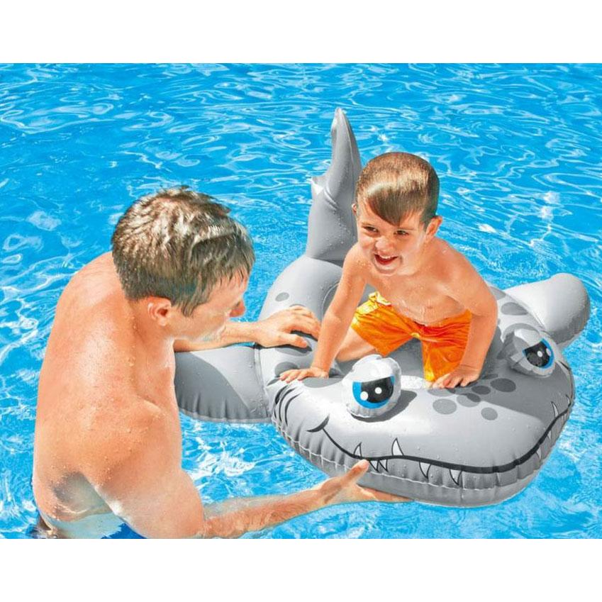 Bateau Gonflable Enfant piscine style Bouée Siège Bateau Requin