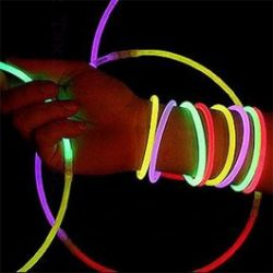 15 btons lumineux Lumino Stick pour crer bracelets, colliers...