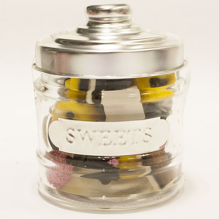 bocal bonbons en verre bonbons inclus assortiment anglais ebay. Black Bedroom Furniture Sets. Home Design Ideas