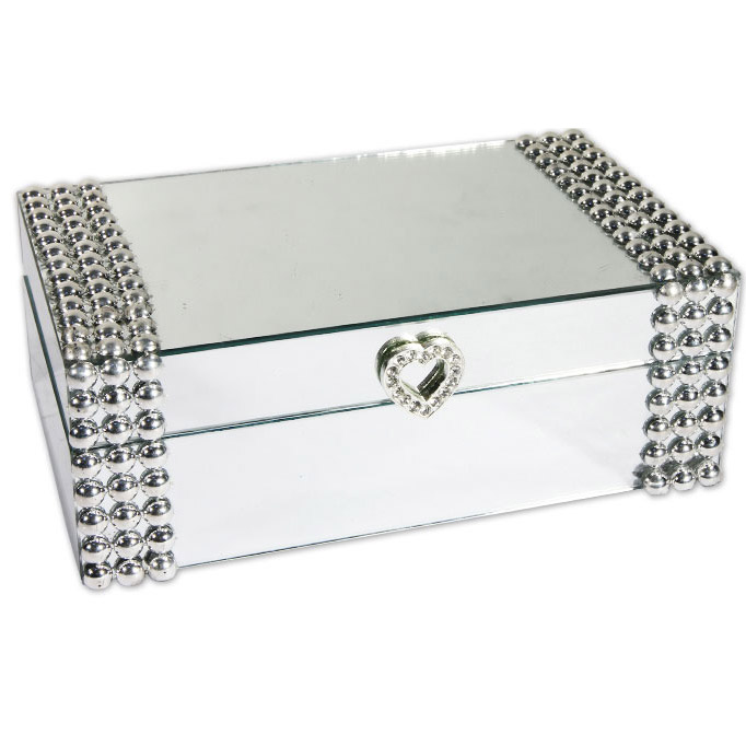 boite bijoux miroir coeur bo tes bijoux espace bijoux. Black Bedroom Furniture Sets. Home Design Ideas