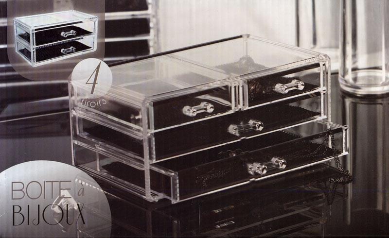 Boite bijoux transparente - Boite en plastique transparente ...