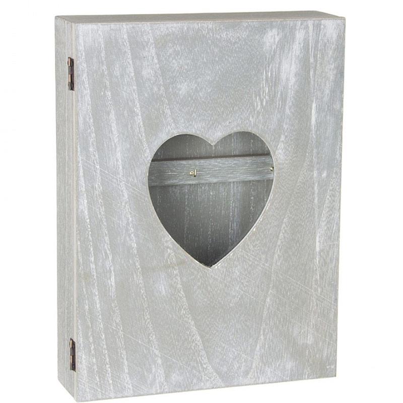 Boite armoire cl s murale coeur avec vitre design coeur for Boite a cles murale