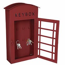 Boîte à Clés style Cabine Téléphonique Londres