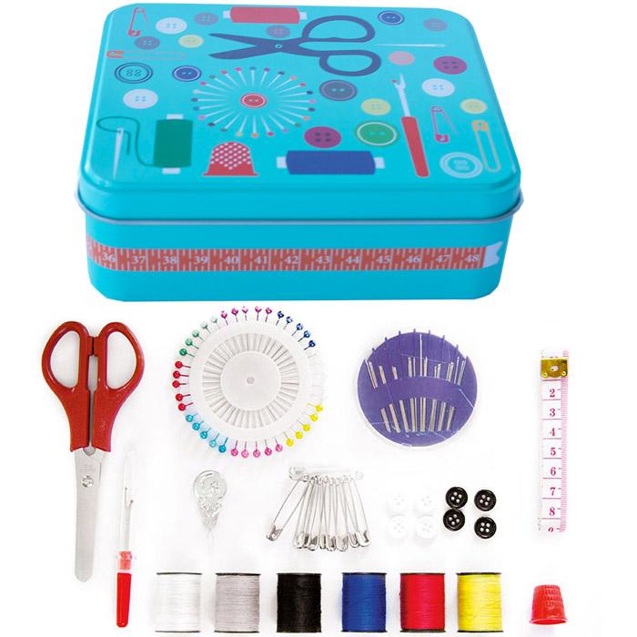 Set de couture kit de couture 91 pi ces avec boite m tal for Boite a couture avec accessoires