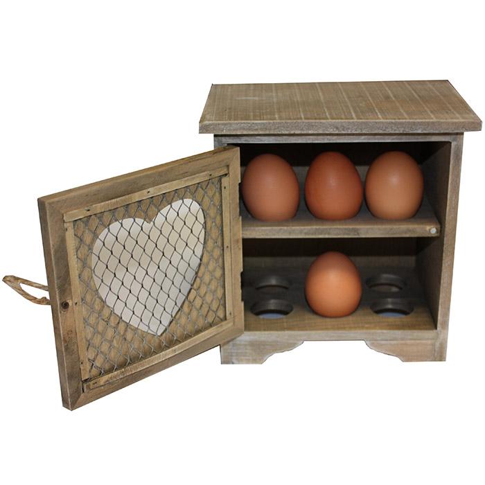 boite de rangement pour oeufs en bois pour 12 oeufs design vintage. Black Bedroom Furniture Sets. Home Design Ideas