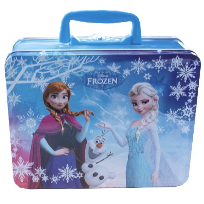Boite repas lunch box frozen reine des neiges en m tal - Boite a bijoux reine des neiges ...