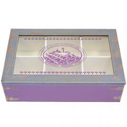 Boite à Thé Vintage Violet
