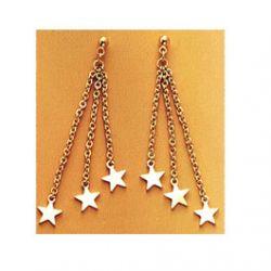 Boucles d'oreilles 3 étoiles  plaqué Or