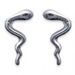 Boucles d'Oreilles Serpent Argent