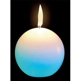 bougie lumineuse qui change de couleurs