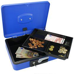 Grande Caisse à Monnaie et Billets avec ouverture facile