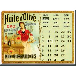 Calendrier Perptuel Huile d'Olive