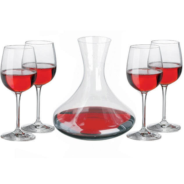 service vin avec carafe d canter et 4 verres vin. Black Bedroom Furniture Sets. Home Design Ideas