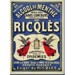 Plaque Métal Ricqlès 30x40 cm