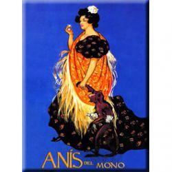 Carte Métal Anis Del Mono 15x21 cm