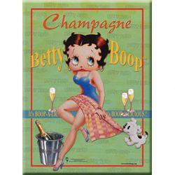 Carte Métal Betty Boop Champagne Verte 15x21 cm