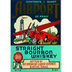 Carte Métal Bourbon Whisky 15x21 cm
