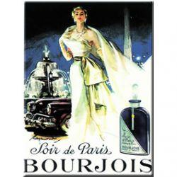 Carte Métal Soir de Paris, Bourjois 15x21 cm