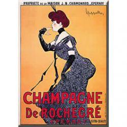 Carte Métal Champagne de Rochegré 15x21 cm