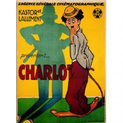 Carte Métal Charlie Chaplin Policeman 15x21 cm