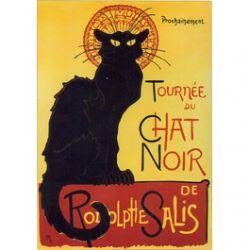 Carte Métal Tournée du Chat Noir Prochainement 15x21 cm