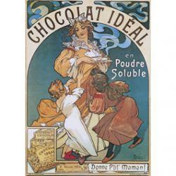 Carte Métal Chocolat Idéal 15x21 cm