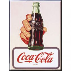 Carte Métal Coca Cola Bottle 15x21 cm