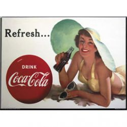 Carte Métal Coca Cola Refresh 15x21 cm