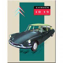 Carte Métal ID19 Citroën 15x21 cm