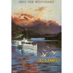 Carte Métal Lac d'Annecy 15x21 cm