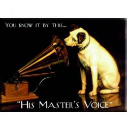 Plaque Métal His Master's Voice 30x40 cm