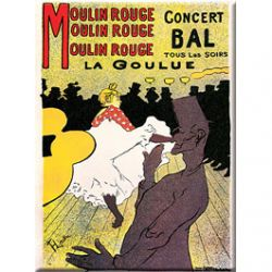 Carte Métal Moulin Rouge la Goulue 15x21 cm