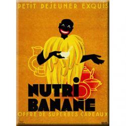 Plaque Métal Nutri Banane 30x40 cm