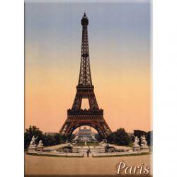 Carte Métal Tour Eiffel 15x21 cm