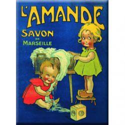 Carte Métal Savon de Marseille l'Amande 15x21 cm